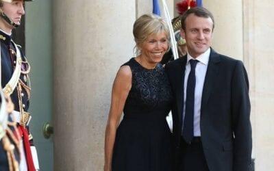 Ο Emmanuel Macron και η σύζυγος του